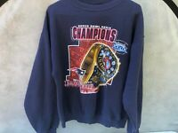 New England Patriots Sweatshirt by Lee Super Bowl XXXIX Champs Jacksonville 2005