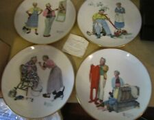 Lot of 4 vint 1970's Norman Rockwell 4 Seasons collector plates- orig packaging
