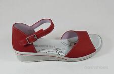 Ricosta Girls Midori Red Nubuck Leather Sandals UK 6 EU 39 US 7.5 RRP £42