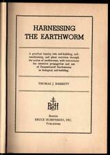 Must Have Books - Harnessing The Earthworm 1947 & Natural History Mosquitoes '54