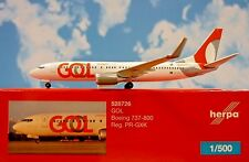 Herpa Wings 1:500 Boeing 737-800  GOL PR-GXK  528726  Modellairport500