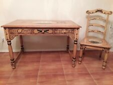English Nautical Furniture Desk with Chair Solid Wood