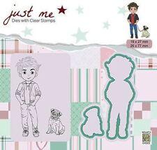 Stempel Clear Stamp Stanz-schablone cutting Boy Dog Junge Hund Nellie JMSD003