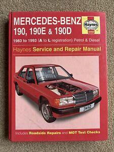 Mercedes-Benz 190, 190E & 190D (1983 - 93) Haynes Repair Manual 3450