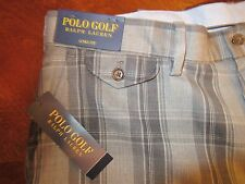 Polo Golf Ralph Lauren Links Fit Wool Pants Grey Plaid 36x32 New with tags $245