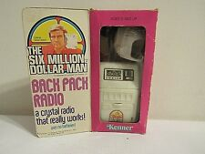 1975 Kenner Six Million Dollar Man Back Pack Radio