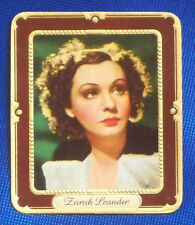 Zarah Leander 1937 Garbaty Passion Film Favorites Embossed Cigarette Card #52