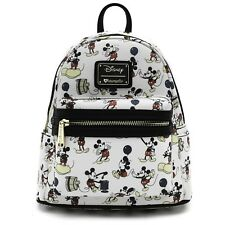 Loungefly Disney Mickey Mouse Poses Mini Faux Leather Bag Backpack WDBK0528