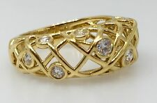 Ring in 18K YellowGold - Hm1248 Hearts On Fire Brocade Right Hand Diamond