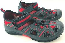 MERRELL Hydro Boys 2M Sandals Leather Waterproof Gray Red