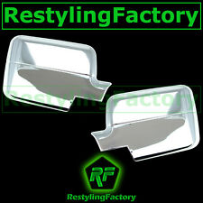 04-08 Ford F150 Truck Chrome Mirror without Turn Light Signal Full Cover a Pair