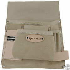 Style n Craft  92825 - 6 Pkt Nail & Tool Pouch in Top Grain Leather