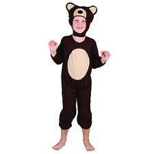 Brown Bear Cute Toddler Fancy Dress Costume - Age 18 Months - 3 Years - New