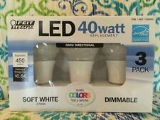 3 PACK - FEIT 7 Watt DIMMABLE LED BULBS 40 W Replacement SOFT WHITE 22 Years NEW