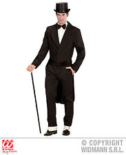 Medium Black Mens Tailcoat Jacket for Circus Ringmaster - Fancy Dress Costume