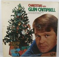 """Christmas With Glen Campbell Holiday Music 12"""" LP Album Vinyl"""