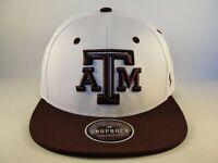 Texas A&M Aggies NCAA Zephyr Snapback Hat Cap White Maroon