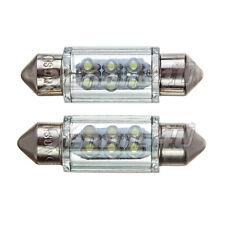 36mm Number License Plate 6 LED Xenon White 6000K Festoon Light Bulbs C5W