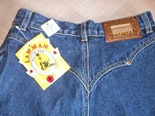 WESTERN LAWMAN JEANS PANTS NEW WITH TAGS , CUT OUTS DOWN THE LEGS SIZE 7 RODEO