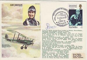 GB Stamps RAF Souvenir Cover Amy Johnson solo flight England to Australia 1976