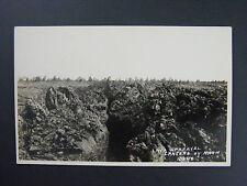 Lava Upheaval Craters Of Moon Idaho ID Real Photo Postcard RPPC c1924-49