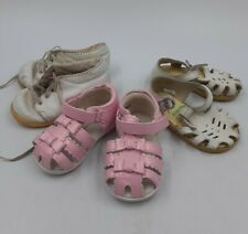 Girls Kids 3-PAIR SHOE LOT Toddler Size 3-4 Vintage Stride Rights Oshkosh Pink