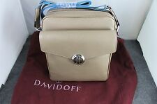 DAVIDOFF Saffiano Printed leather Beige Calf leather Icon Reporter Bag MSRP$1145