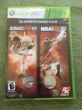 2K Sports Combo Pack: Major League Baseball 2K12/NBA 2K12 (Xbox 360) New SEALED