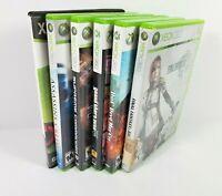 Xbox 360 Game lot of 6 Final Fantasy XII DMC Borderlands Assassins Creed GTA IV