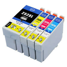 4x Universal Ink Cartridge 252XL for Epson WF-3620 WF-3640 WF-7610 Workforc W4V3