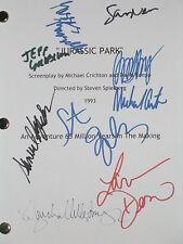 Jurassic Park Signed Movie Script X9 Goldblum Spielberg Neil Jackson reprint