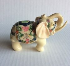 Chinese Hand Painted Resin Elephant