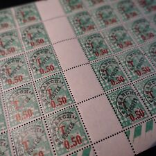 FEUILLE SHEET ALGÉRIE TIMBRE TAXE N°28 x50 MOSQUÉE 1944 NEUF** LUXE MNH COTE 18€