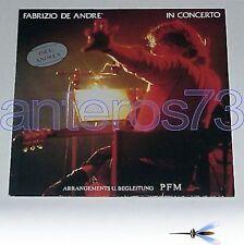 "FABRIZIO DE ANDRE ""IN CONCERTO"" RARO LP STAMPA TEDESCA"
