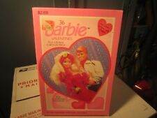 VINTAGE NOS BARBIE DOLL MATTEL VALENTINES DAY CARDS 36  IN BOX GIBSON 1991