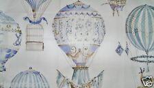 MANUEL CANOVAS HOT AIR BALLOONS TOILE FABRIC 10 YARDS  MULTI BLUE