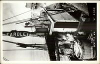 Seattle WA Unloading Fish EARDLEY - Fsiherman Fishing Boat Real Photo Postcard