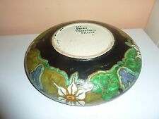 EARLY 20THC  SCHOONHOVEN,HOLLAND ART POTTERY 24CM  SHALLOW BOWL IN DONDU PATTERN