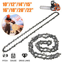 10''/12''/14''/15''/16''/18''/20''/22' Chainsaw Chain Blade Wood Cutting Parts