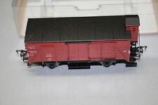 Fleischmann 5355 2-Achser gedeckter Güterwagen G10 Bremserhaus DR Spur H0 OVP