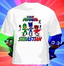 Disney themed PJ Masks Personalized T shirt Catboy, Gekko, Owlette Birthday gift