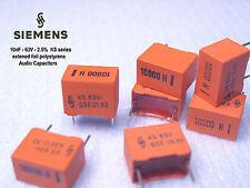SIEMENS KS - 10nF 2.5% 63V polystyrene foil Audio capacitors  x 1000 PIECES