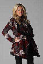 Hale Bob Wool Sweater Coat w Rabbit Fur Trim XS S NWT 1TCL7062 *