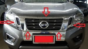 FRONT GRILL COVER CHROME FOR NISSAN FRONTIER NAVARA NP300 2014-