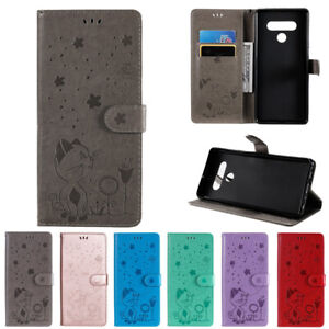 For LG K52 K42 K22 K51S Velvet Stylo 6 Embossed Magnet Leather Wallet Case Cover
