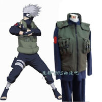 Naruto Hatake Kakashi Cosplay Costume Outfit Full Suit Vest+Shirt+Pants+Cloak