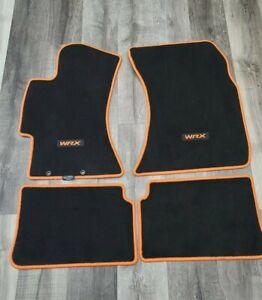 Subaru Impreza WRX STI Black & Tangerin Limited Edition Floor Mats Oem 2008-2014