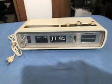 Panasonic Rc-6551 White Flip Clock Radio Fm Swag Modern Retro Vtg Shelf 1970s