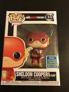 Big Bang Theory #833 Sheldon Cooper as The Flash SDCC 2019 FUNKO Pop Vinyl