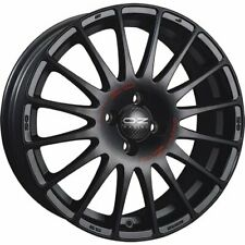 OZ RACING SUPERTURISMO GT MATT BLACK RED LETTERING ALLOY WHEEL 14X6 ET36 4X100